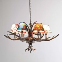 KARE Antler Flowers   colourful hanging light
