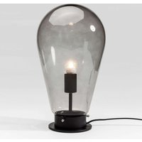KARE Bulb   grey glass table lamp