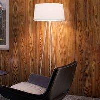 Kundalini   floor lamp Tripod cream   frame grey