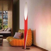 Kundalini Shakti chrome plated floor lamp  red