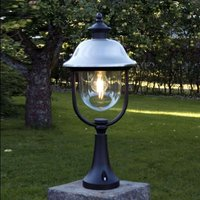 Pillar light Parma with stainless steel roof
