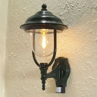 Parma outdoor wall lamp with sensor  green