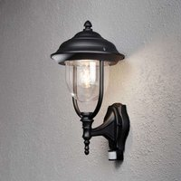 Parma outdoor wall lamp with sensor  black