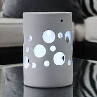 New Genova LED solar light  cylinder  white