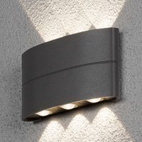 LED outdoor wall lamp Chieri with effective light
