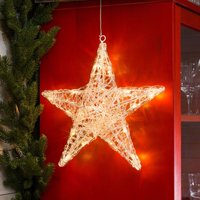 Five pointed acrylic star Ingar with LEDs