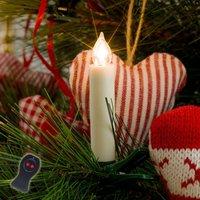 Battery powered LED Xmas tree candles  10 bulb