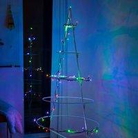 Green cable   LED string lights Mini RGB 100 bulb