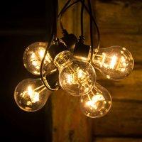 LED string lights filament amber 5 bulb