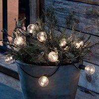 LED string lights filament warm white 10 bulb