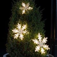 Three piece LED string lights Snowflakes
