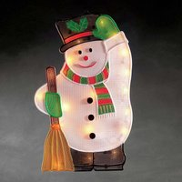 For indoors   Snowman LED window picture