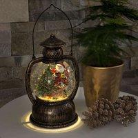 Water filled LED globe lantern Santa Claus