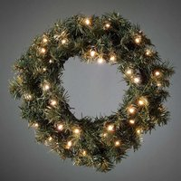For outdoors   LED spruce wreath with light sensor