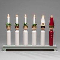 Lucia candleholder  wood  six bulb