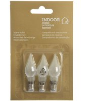 Spare bulbs 2 W 16 V in a pack of three