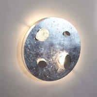 Knikerboker Buchi LED wall lamp 40 cm silver leaf