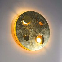 Knikerboker Buchi LED wall lamp 40 cm gold leaf
