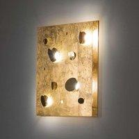 Knikerboker Buchi wall light 60x60cm gold leaf