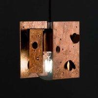 Knikerboker Buchi lamp 13x11x16 5 copper leaf