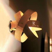 Knikerboker Ecliptika gold coloured LED wall light