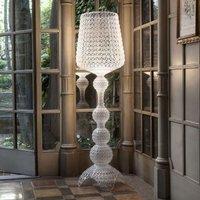 Designer floor lamp Kabuki with LEDs  transparent