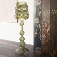 Designer floor lamp Kabuki with LEDs  green