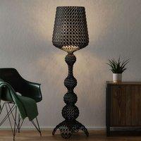 Designer floor lamp Kabuki with LEDs  black