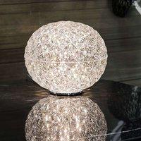 Spherical LED table lamp Planet  transparent