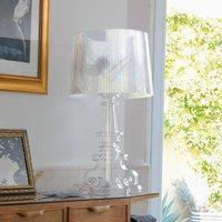 Designer LED table lamp Bourgie  transparent