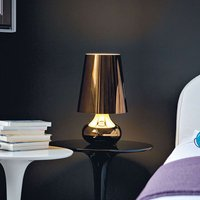 Bedside table lamp Cindy with LED metallic grey