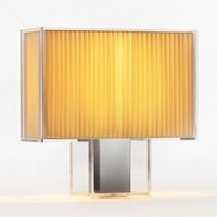Designer table lamp Tat  with pleated lampshade
