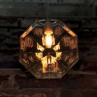 Karman 24 Karati hanging light  yellow octagonal