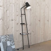 Floor lamp Alfred with storage space  matt black