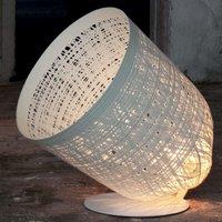 Designer floor lamp Black Out  white