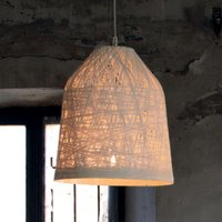 White designer pendant lamp Black Out  35 cm
