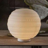Designer glass table lamp Braille  25 cm