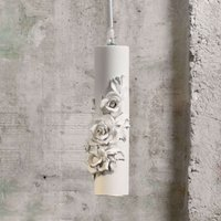 Designer LED hanging lamp Copodimonte  ceramics