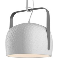 Karman Bag   white hanging light 32 cm  textured