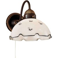 Rustic wall light Nonna  white and blue