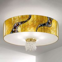 Emozione Kiss   gold plated crystal ceiling light