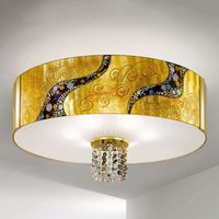 Gold coloured ceiling light Emozione Kiss