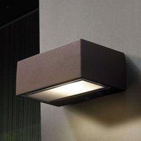 LED outdoor wall light Nemesis  brown