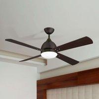 Borneo   modern ceiling fan in brown