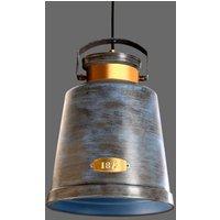 Striking hanging light VINTAGE antique grey