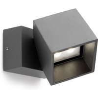 Anthracite coloured LED outdoor wall light Cubus