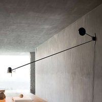 Exclusive LED wall light Counterbalance black