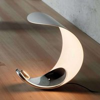 Curl designer table lamp with LEDs
