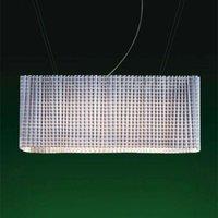 Variable designer hanging light Pliss   White