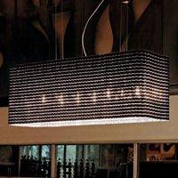 Variable designer hanging light Pliss   Black